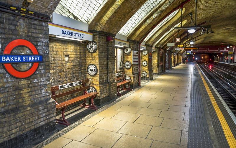 Станция метро улицы хлебопека стоковая фотография rf