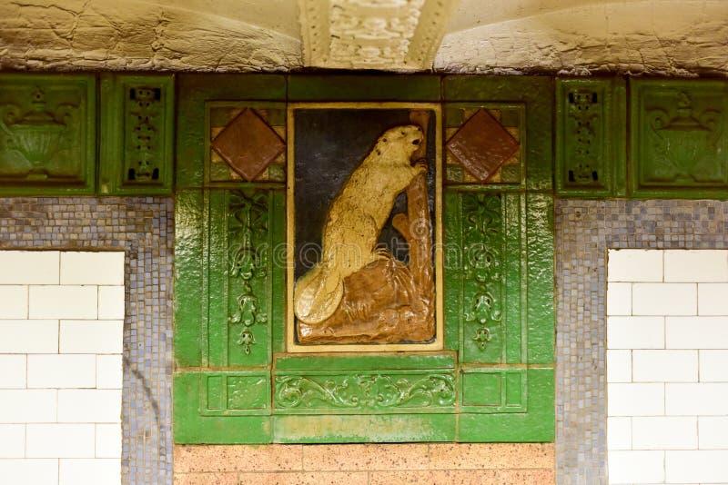 Станция метро улицы Astor - Нью-Йорк стоковые изображения rf