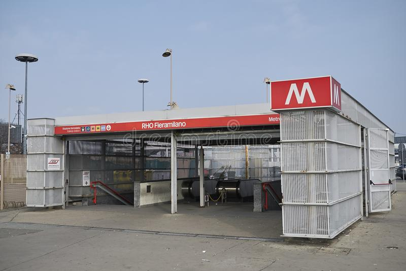 Станция метро Fiera Rho стоковые изображения