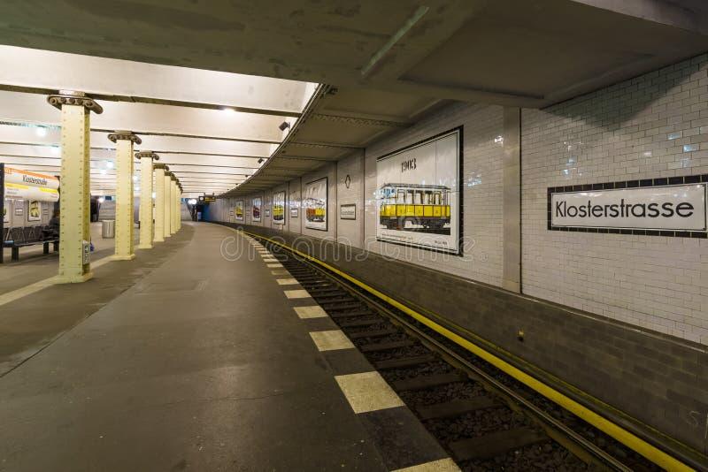 Станция метро Klosterstrasse стоковое фото rf