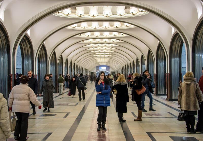 Станция метро Mayakovskaya стоковые изображения rf