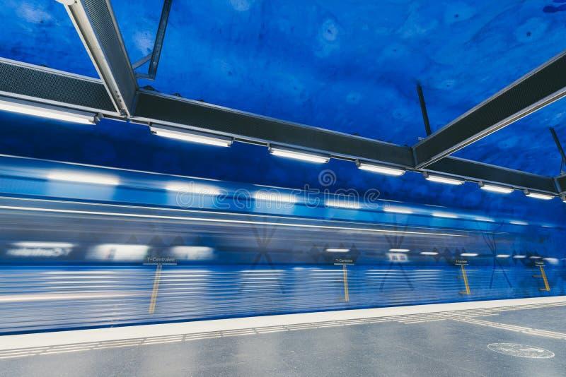 Станция метро T-Centralen в Стокгольме, Швеции стоковое изображение