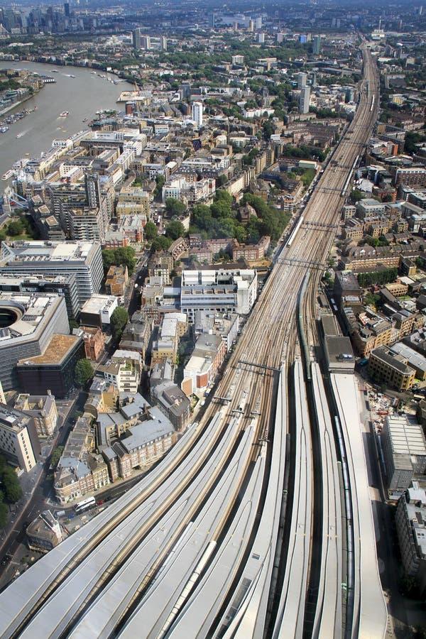 Станция моста Лондона от вершины черепка стоковые фото