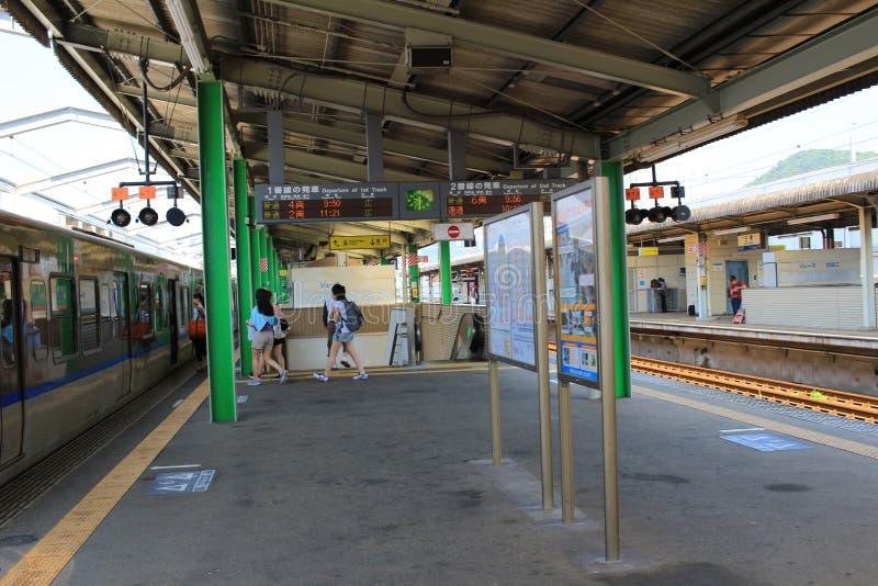 станция на Mihara Японии стоковое фото rf