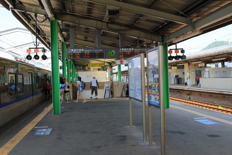 станция на Mihara Японии стоковые фото