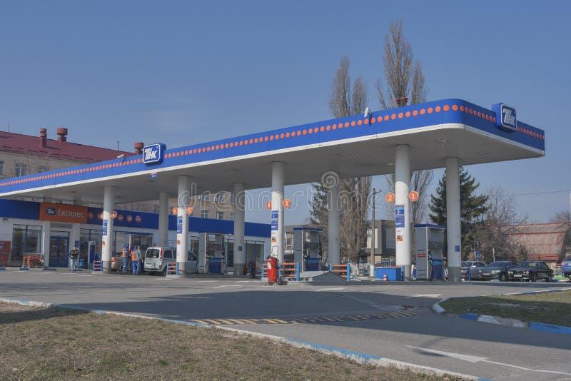 Станция нефти TNK в Киеве, Украине стоковое фото