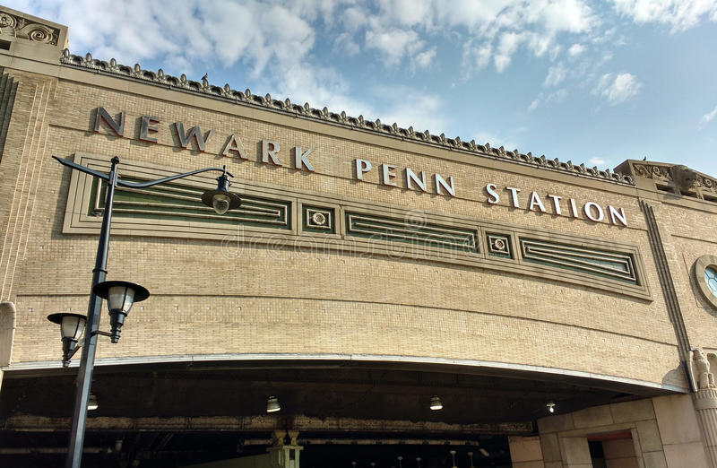Станция Ньюарка Пенна, станция Пенсильвании, NJ, США стоковое фото rf