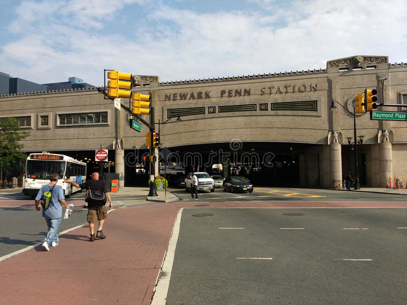 Станция Ньюарка Пенна, станция Пенсильвании, NJ, США стоковое фото