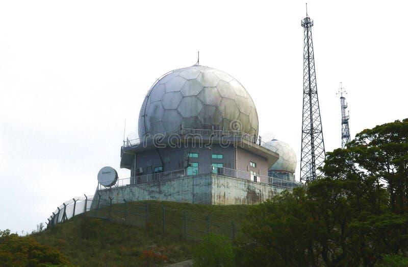 Станция обсерватории метеорологического радиолокатора стоковые изображения rf