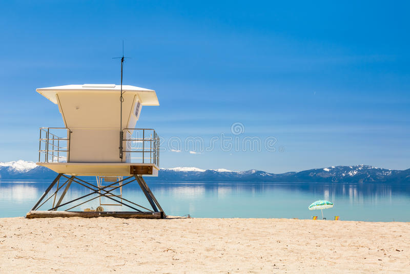 Станция патруля пляжа стоковое фото