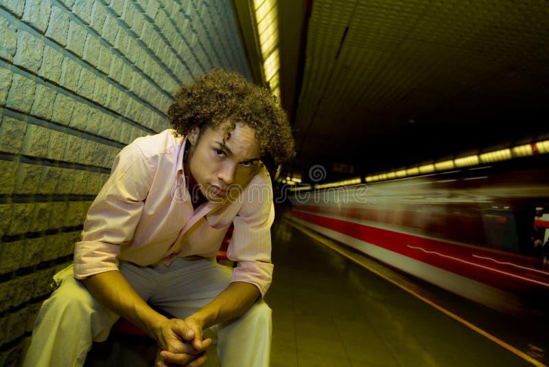 станция подземная стоковое фото