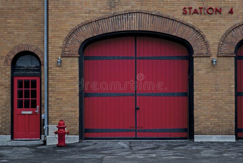 Станция 4 пожарного депо стоковое фото rf