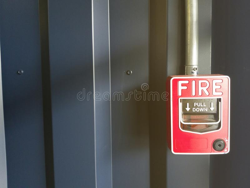 Станция пункта звонка пожарной сигнализации стоковая фотография rf