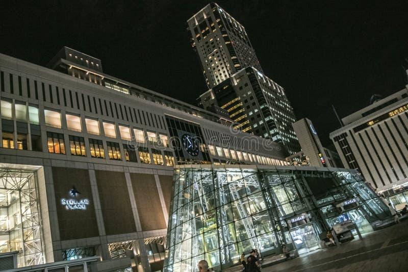 Станция Саппоро, Хоккаидо, Япония стоковые изображения rf