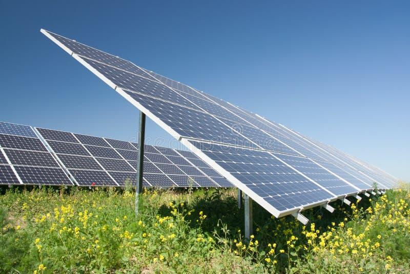 станция силы солнечная стоковая фотография