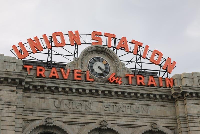 Станция соединения в городском Денвере стоковая фотография rf