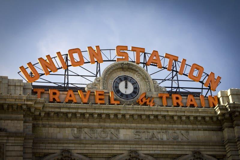 Станция соединения в Денвере Колорадо стоковые изображения rf