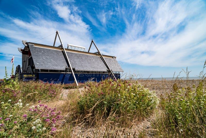 Станция спасательной шлюпки Aldeburgh стоковые фотографии rf