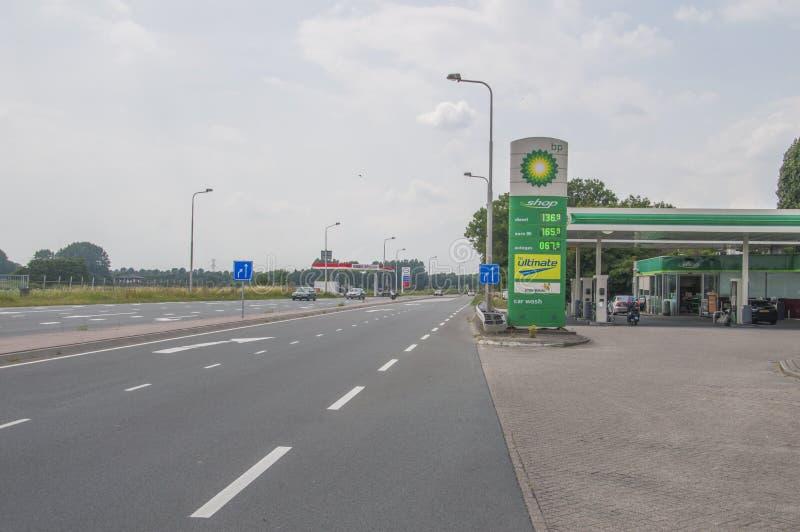 Станция танка BP на Weesp Нидерланды стоковое фото rf