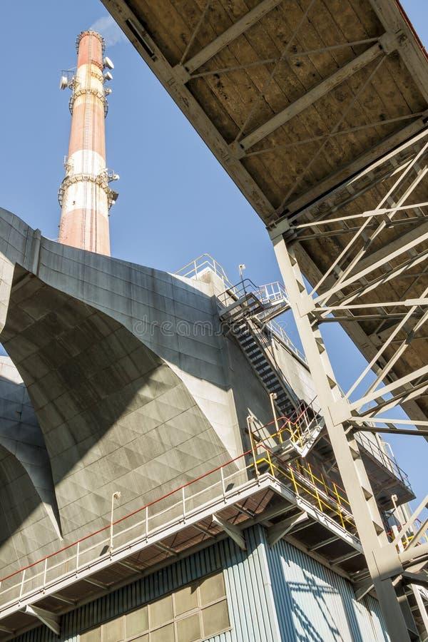 Станция угольной электростанции - Польша стоковые изображения rf