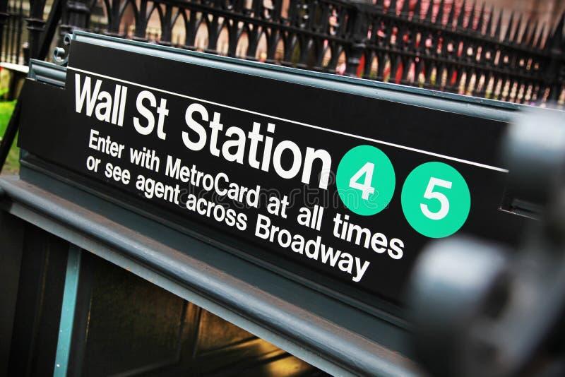 Станция Уолл-Стрита стоковая фотография rf