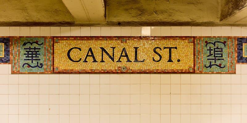 Станция улицы канала - Нью-Йорк стоковое изображение rf
