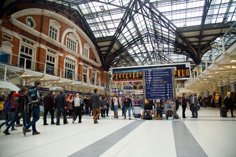 Станция улицы Ливерпуля стоковые изображения rf