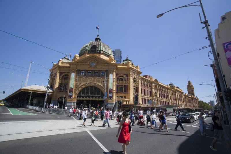 Станция улицы Flinder стоковая фотография
