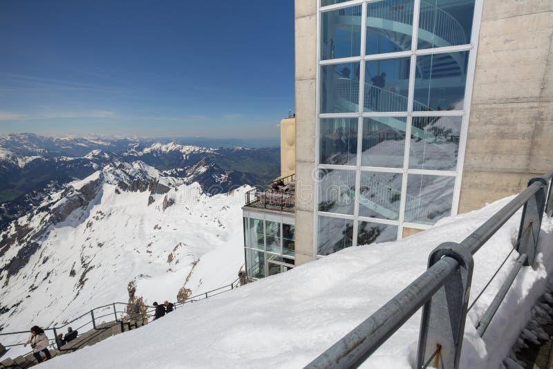 станция Швейцария горы saentis стоковые фото