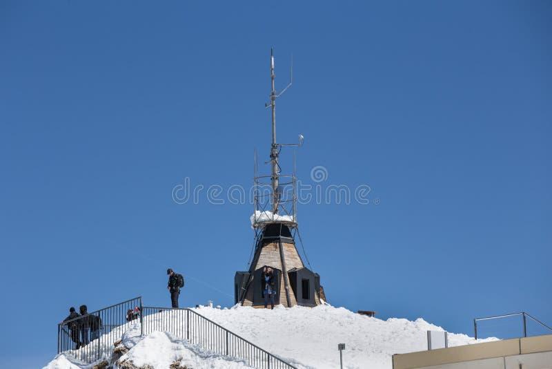 станция Швейцария горы saentis стоковое фото rf