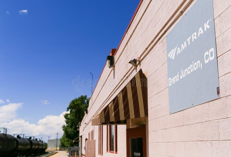 Станция Amtrak в Grand Junction стоковые фото