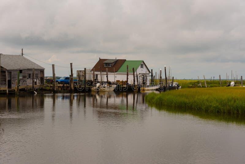 Станция Crabbing в заболоченных местах Нью-Джерси стоковая фотография