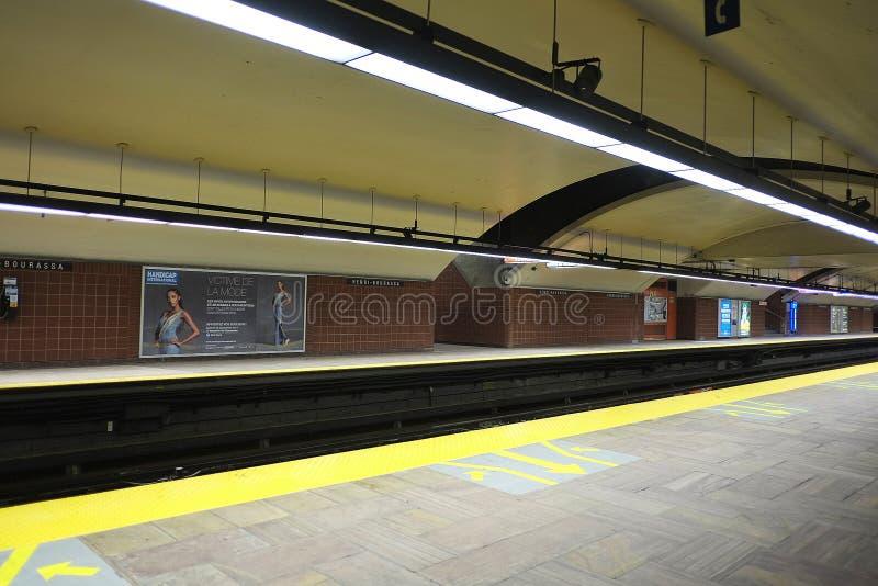 Станция Henri Bourassa метро Монреаля стоковое изображение rf