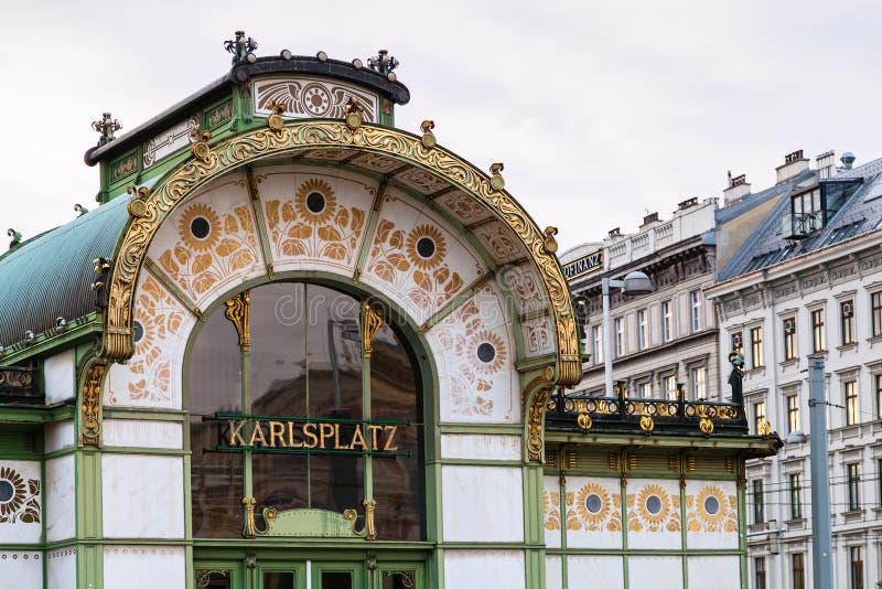 Станция Karlsplatz Stadtbahn в вене стоковое изображение rf
