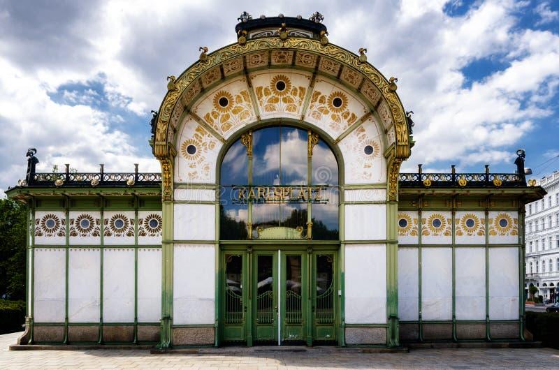Станция Karlsplatz Stadtbahn в вене стоковое фото