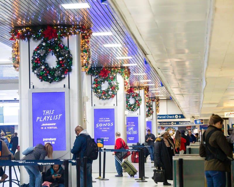 Станция NYC Пенна стоковое фото rf