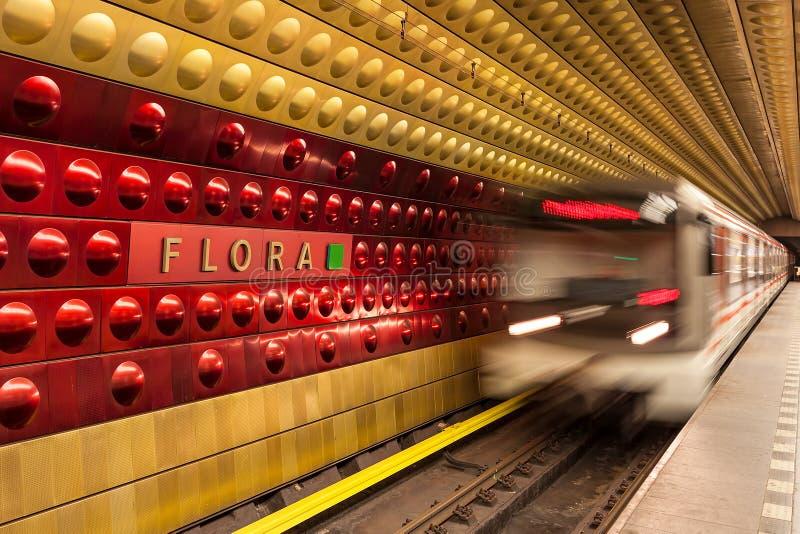 станция prague метро стоковые фото