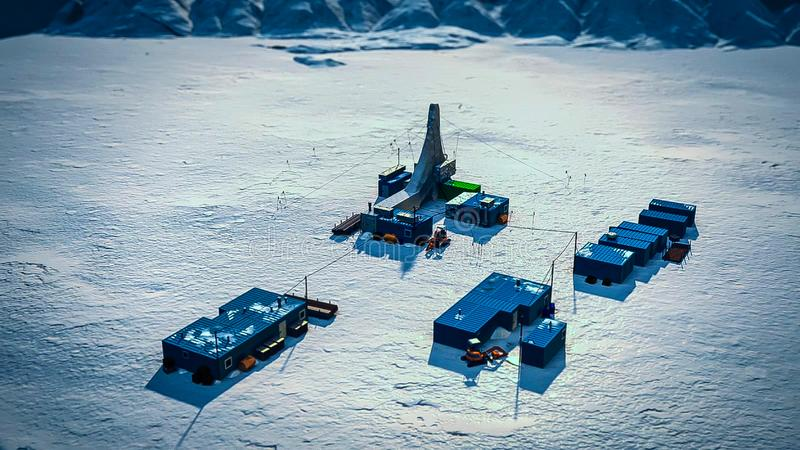 Станция Reearch на станция Антарктике, Антарктике стоковая фотография rf