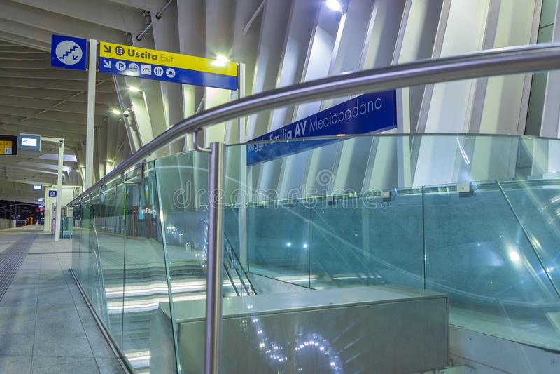 Станция Reggio Emilia быстроходного поезда стоковая фотография rf