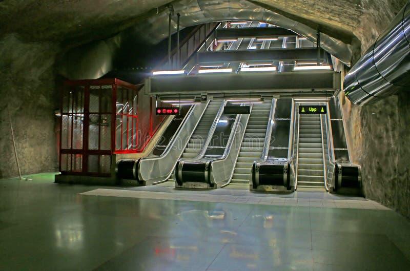 Станция SKungstradgarden метро Стокгольма стоковое изображение rf