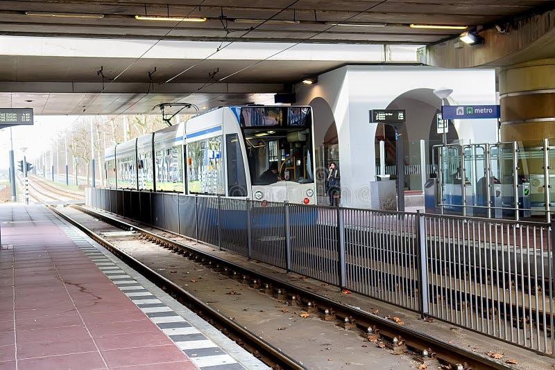 Станция Ttram в Амстердаме стоковая фотография