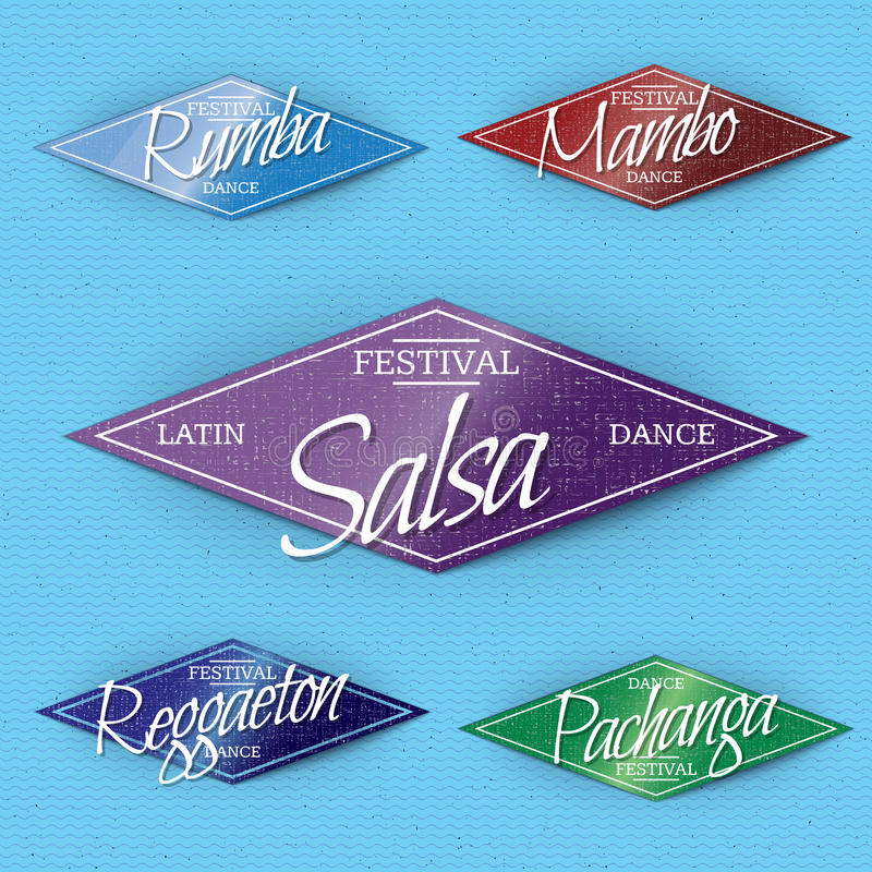 Станцуйте insignia и ярлыки фестиваля для любых польза бесплатная иллюстрация