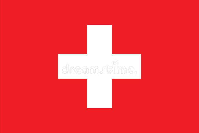 Стандартные пропорции для флага Швейцарии иллюстрация вектора