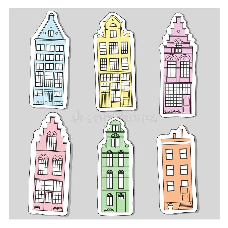 Старая архитектура Голландии бесплатная иллюстрация