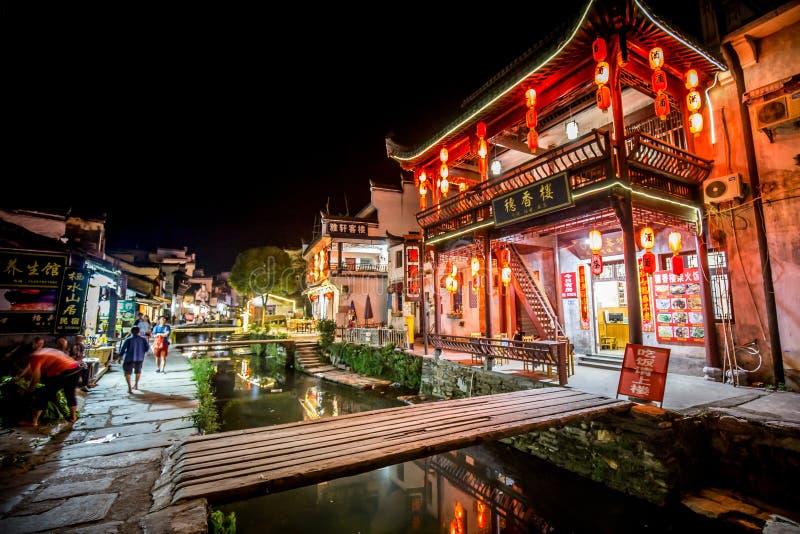 Старая архитектура и большинств красивая деревня фарфора вызывают деревню Likeng ` в ` Wuyuan расположенный в центре страны Китая стоковое фото rf