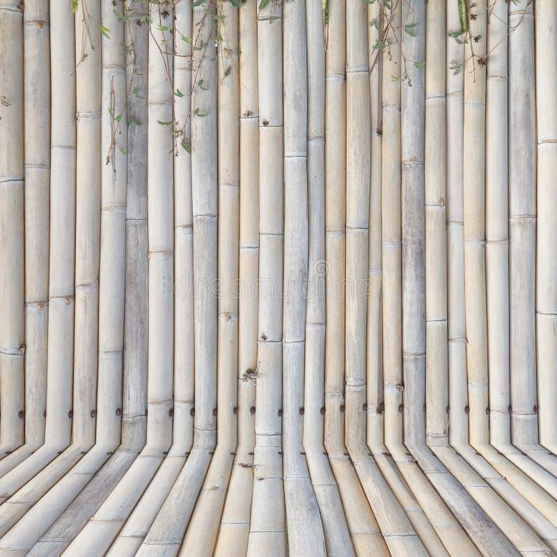 Старая бамбуковая загородка, предпосылка стоковое изображение