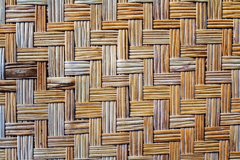 Старая бамбуковая текстура циновки weave стоковое фото rf