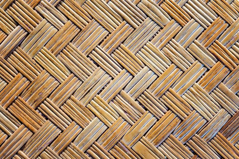 Старая бамбуковая текстура циновки weave стоковая фотография rf