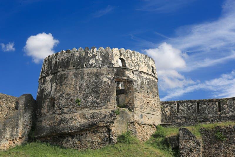 Старая башня в каменном городке стоковые изображения rf