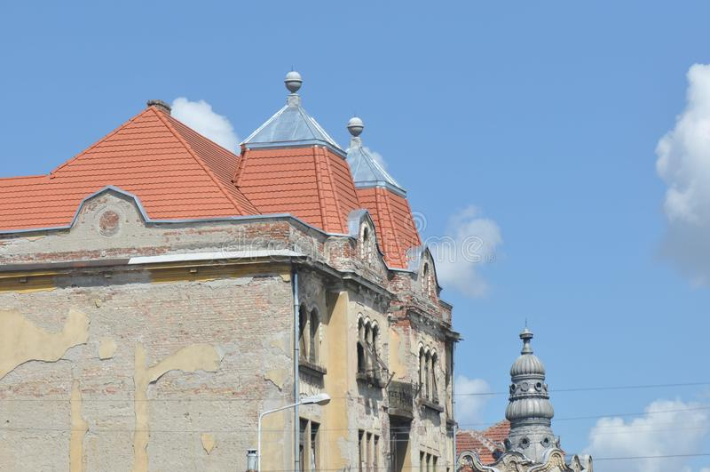 Старая башня многоквартирного дома стоковое фото rf